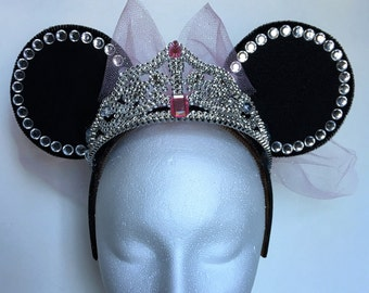 Crystal Princess Minnie Ears