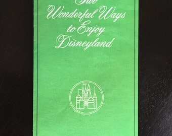 Disneyland Guided Tour and Ticket Book Price Trifold