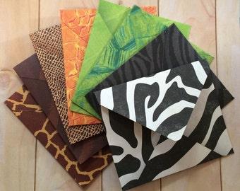Envelope set (A2): Animal Prints