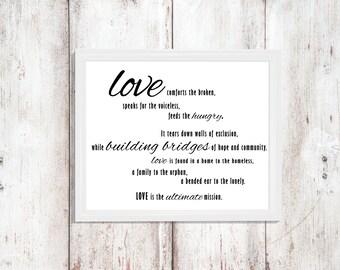 Love Quote Print - Home Decor - Instant Download - Digital Art - Wall Art Printable - Printable Quote - Digital Artwork -  Love Art