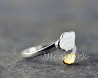 NATURE ring Silver 925 adjustable silver ring ladies jewelry ladies rings 219