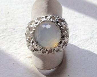 ring with quartz stone