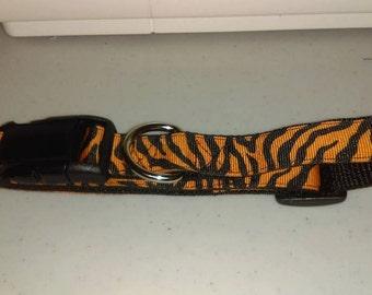 Quick Release Dog Collar - Halloween Zebra Stripe