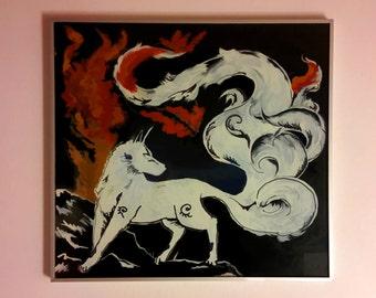 Okami wolf paint ninetails