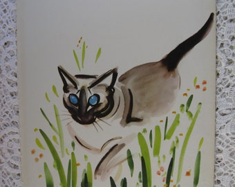 Clare Turlay Newberry,Vintage Book Page,Siamese Cat,Children's Book Page, Frameable Image, Circa 1949