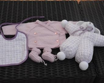 Birth gift set pink