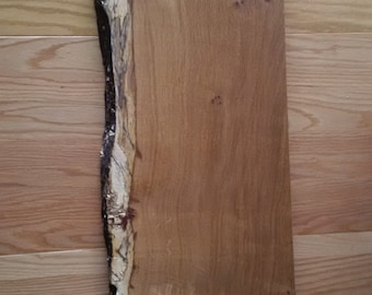 Very Large Rustic Solid Oak Board with Waney Edge
