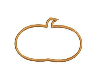 6 sizes - Pumpkin Applique Embroidery Design, Pumpkin Embroidery Design, Halloween Applique Design, Instant Download, Thanksgiving Applique