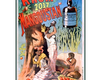 """Wall Calendar 2017 (12 pages 8""""x11""""/A4) Rum Alcohol ads Vintage Advert Poster M518"""