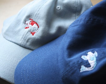 Koi Fish Custom Embroidered Baseball Dad Cap