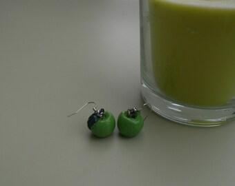 Green apples - Green apples earrings earrings