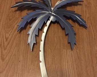 Stainless steel metal palm tree