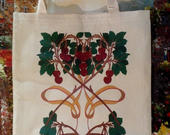 Tote Bag - Queen Cherry - Tree - Floral