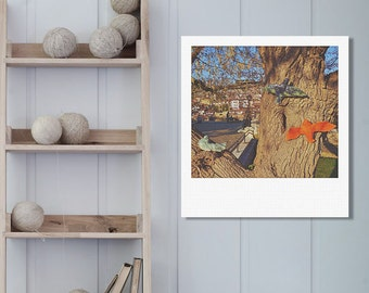 """Custom Polaroid Style Cotton Canvas Print with Copyright Photograph of Veliko Tarnovo -""""Color Code:Pigeon"""", 3 sizes available, Home Decor"""