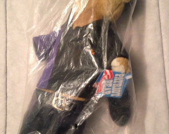 1994 FedEx Patrol Bear Vitage 12 Inch Teddy Bear FedEx New Stuffed With Shoes