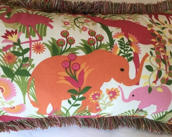 Elephant jungle pillow set (4)