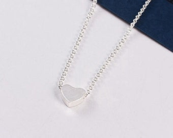 Julia silver plated necklace heart love romantic woman