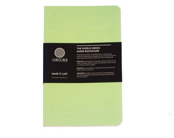 Notebook from stonepaper - Softcover Rockbook Mint