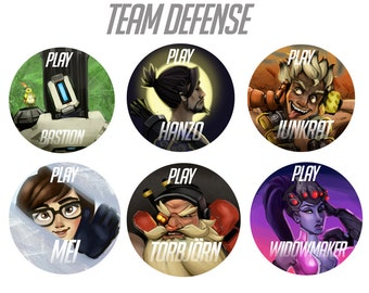 Overwatch Buttons - DEFENSE