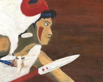 San de Princesse Mononoke - affiche / / Affiche / / Illustration //Fanart