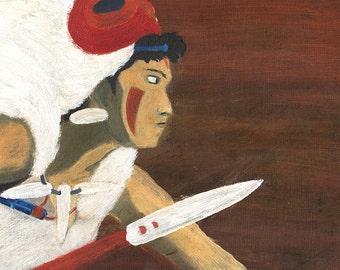 San from princess Mononoke -  Poster // Affiche // Illustration //Fanart