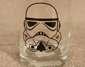 Star Wars Storm Trooper Rocks Glass