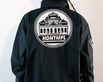 Black HDNTMPL Windbreaker