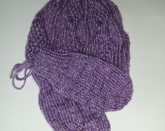 Youth size hat and mitten set