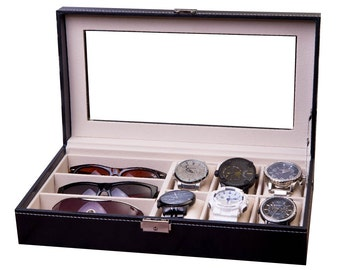 Watch U0026 Sunglass Box, Combo Display Case, Watch Case, Sunglasses Case  Storage,
