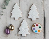 Paint Your Own Christmas Tree Biscuit Gift Set - Large Christmas Cookie Gift Set - Xmas Gifts for Kids -  Decorate your Own Biscuits