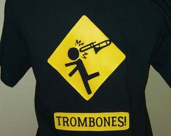 Trombone themed t shirt
