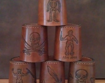 dice cups with pirate flags / LARP