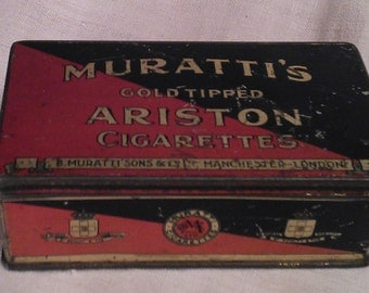 Old metal cigarette box Muratti
