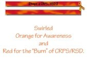CRPS Awareness, RSD Awareness, Orange Ribbon Awareness, Silicone Wristband, Debossed Wristband
