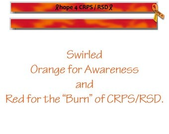 CRPS Awareness, RSD Awareness, Orange Ribbon Awareness, Silicone Wristband, Debossed Wristband
