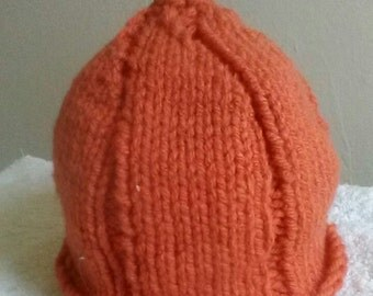 Toddler Pumpkin Handknit Hat - Photo Prop Hat - Costume Hat - Adorable Toddler Hat - Fall Hat - Ready to Ship