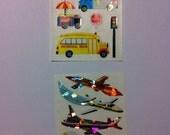 Vintage Sandylion Shiny Transportation Stickers