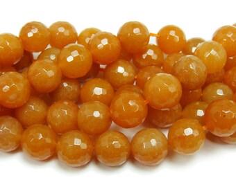 Red Aventurine Faceted Gemstone Beads