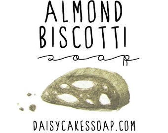 Almond Biscotti Soap, A Seasonal Gritty Hand Soap