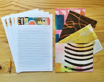 Life is Colorful stationery paper set, letter writing pages and envelopes