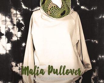Malia Cotton Fleece cowl Pullover