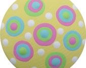 Yellow Pink Aqua Blue Green Polka Dots Hand Painted Wood Decorative Girls Children Nursery Kids Dresser Knobs Drawer Knobs Pulls Kids Decor