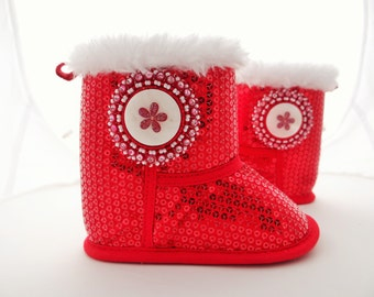 Native American Beaded Baby Boots 6-9 months