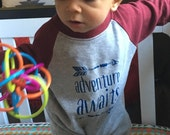 Adventure Awaits Romper Baby boy gift