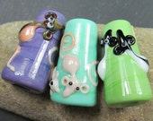 Rat lover's handcrafted lampwork light pulls