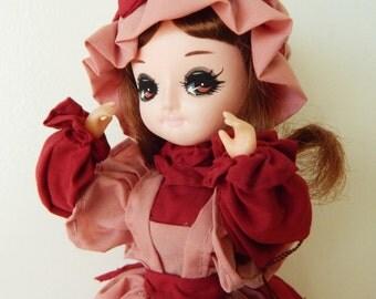 Vintage Bradley Pose Doll Pink Dress on Stand Made in Korea
