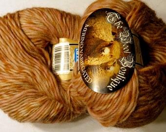 2 skeins Yarn 100% Merino Wool Wool Boutique Elle pink cream brown
