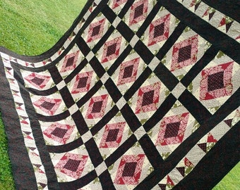 Into The Woods Homemade Quilt - QUEEN SIZE - 96 x 82
