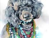 Custom Order for spearvint 5x7 pet portrait