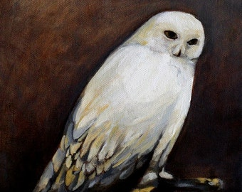 Snowy Owl art print of oil painting